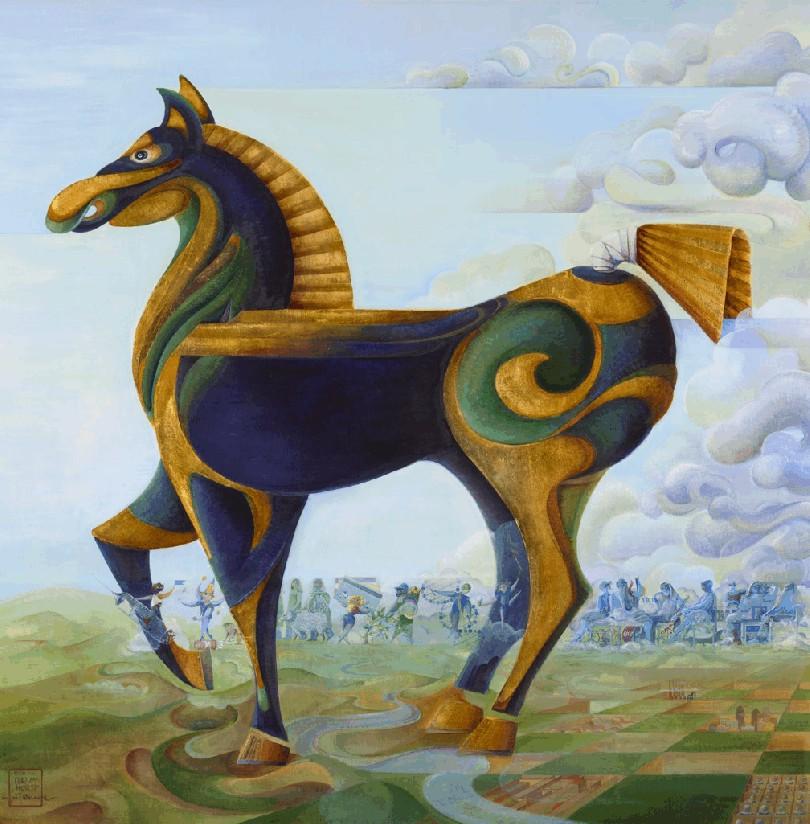 Art- Trojan Horse Lg